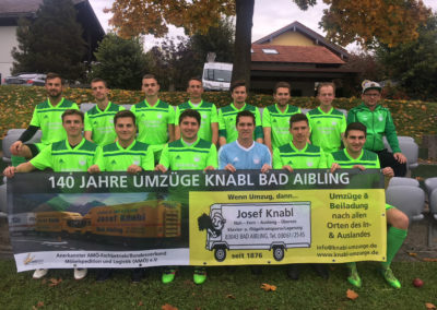Umzuege Knabl unterstützt das Grüne Fussball-Ballett vom TSV Hohenthann - Beyharting