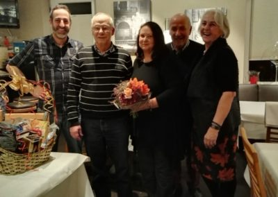 Markus Knabl, Reinhard Krause mit Partnerin Ines, Chef Georg Knabl mit Frau Maria