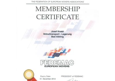 Knabl, member of European Movers FEDEMAC